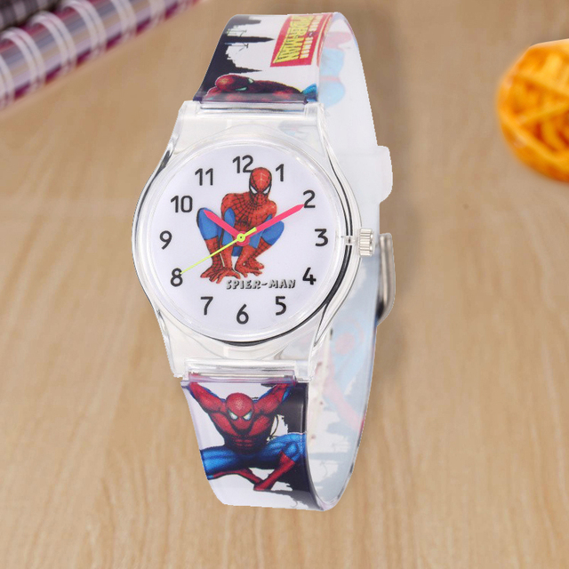 2018 New Cute Spiderman Children Watch Kids Watches Super Hero Boys Girls Quartz