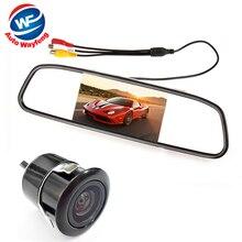 Sistema de Ayuda Al Aparcamiento automático 2 en 1 Digital de 4.3 TFT LCD Aparcamiento espejo retrovisor Del Coche Monitor + 170 Grados de visión Trasera de Coche Mini cámara