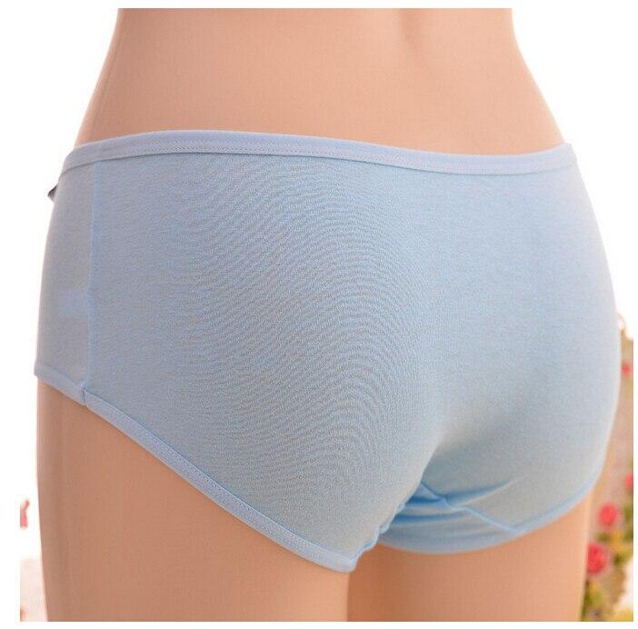 Gran cintura baja algodón color sólido Candy colored Ropa interior de las  mujeres respirables Bragas calzones mujer de marca cd75 1b74eacdee99