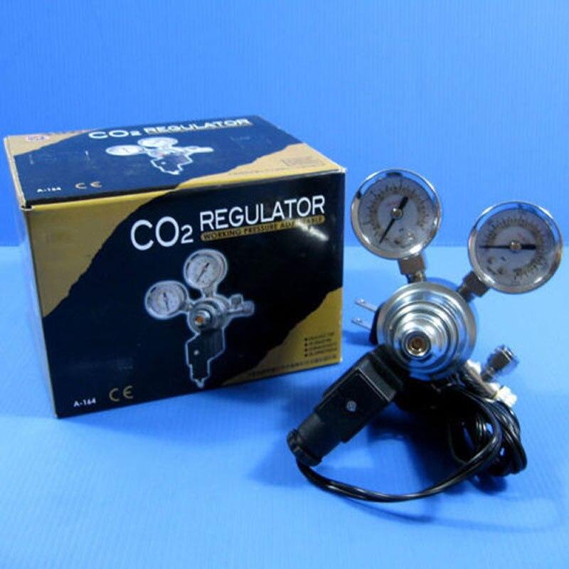 Super qualité UP double jauge Aquarium CO2 régulateur réglable pression électrovanne magnétique pour Aquarium marin et végétal