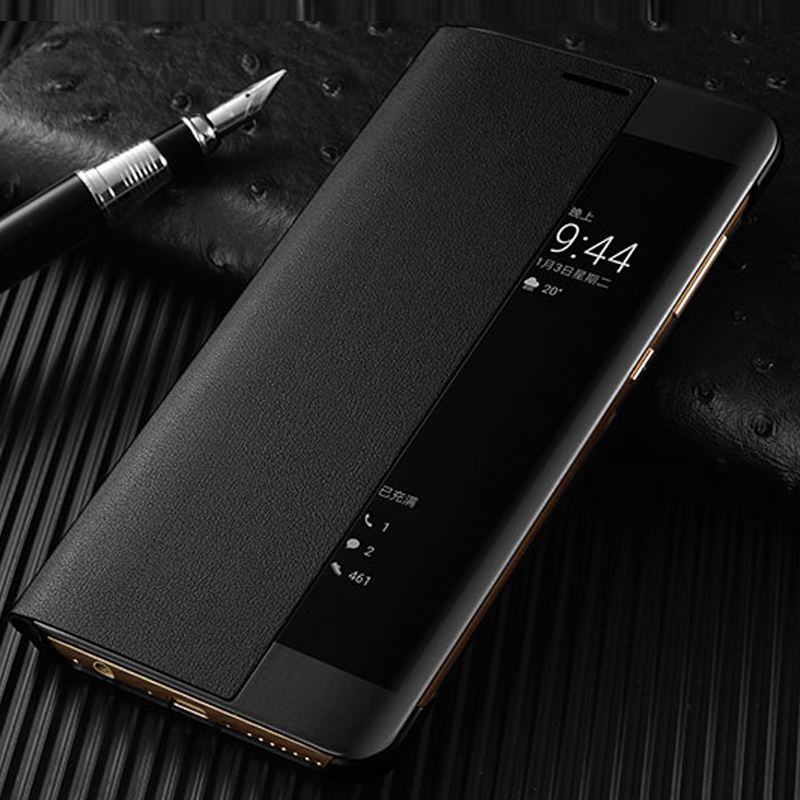 S-GUARD Original Smart Mobile Phone cases Cover Flip Case Leather Call Answer Window For Huawei P10 Plus Protective Shell Skin