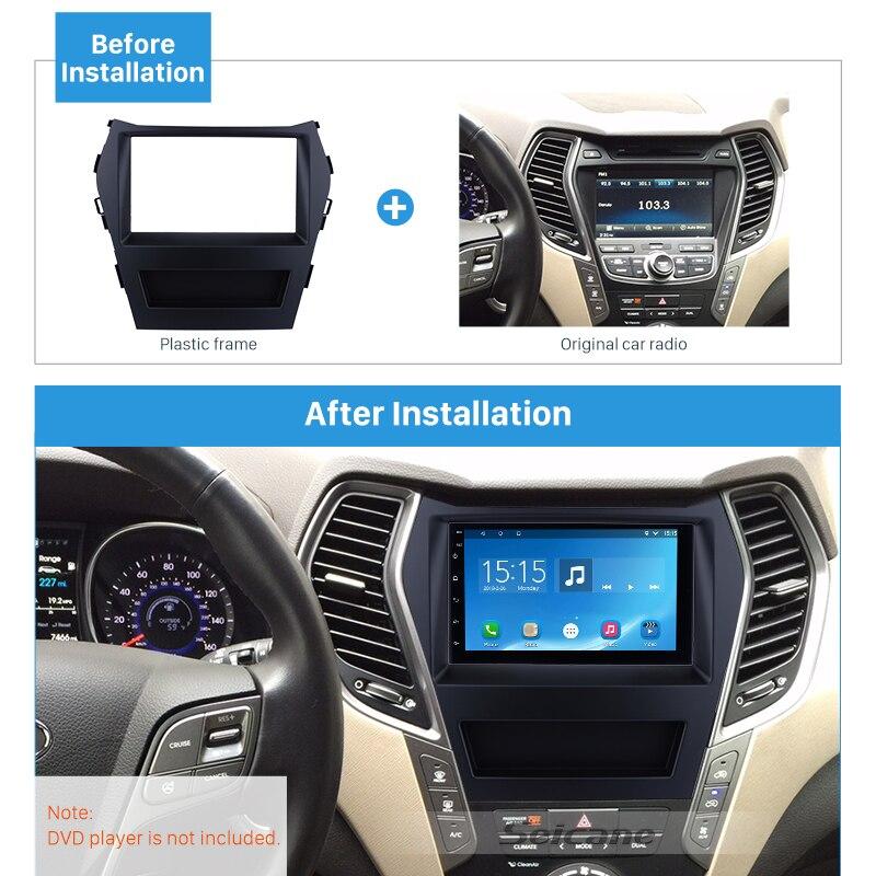 Seicane Double Din Car Radio Fascia For 2016 Hyundai Santafe Ix45 Rhaliexpress: Hyundai Santa Fe Radio Bezel At Gmaili.net