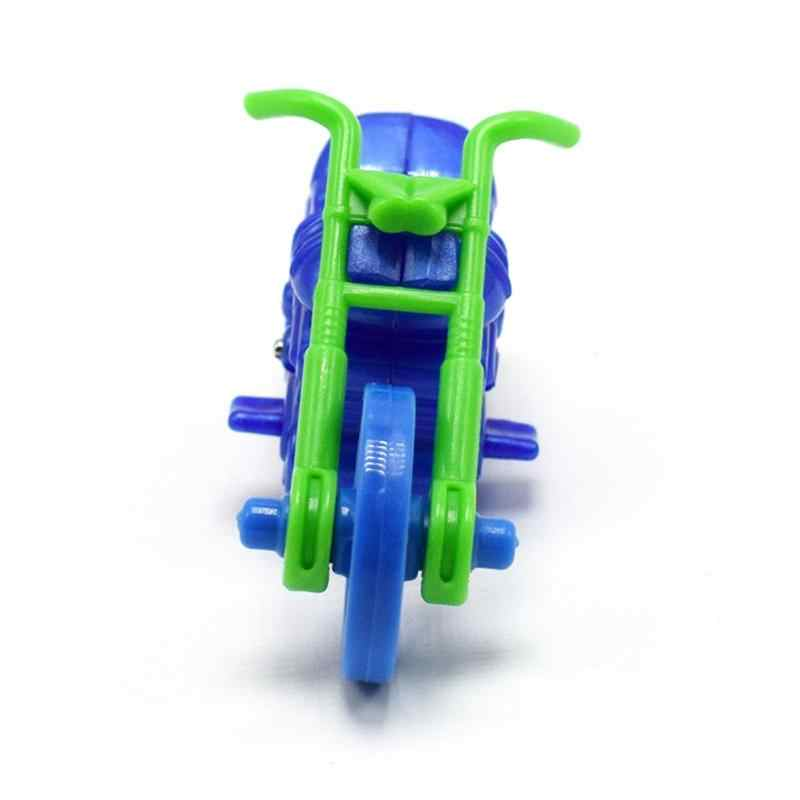 Baby Kids DIY Mini Motorcycle Model Building Children Puzzle Assembly Toy Cool Simple Children Motorcycle for Doll House or Gift