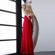 Rojo de Gasa con Crystal Largos Vestidos de Noche Vestido de 2017 Vestido Formal para Las Mujeres Embarazadas Vestidos de Partido Por Encargo ED308