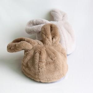 Image 4 - 女性冬の帽子和風甘いかわいいウサギの耳豪華なキャップ動物の帽子 Skullies New ファッションふわふわウォーマービーニーキャップ
