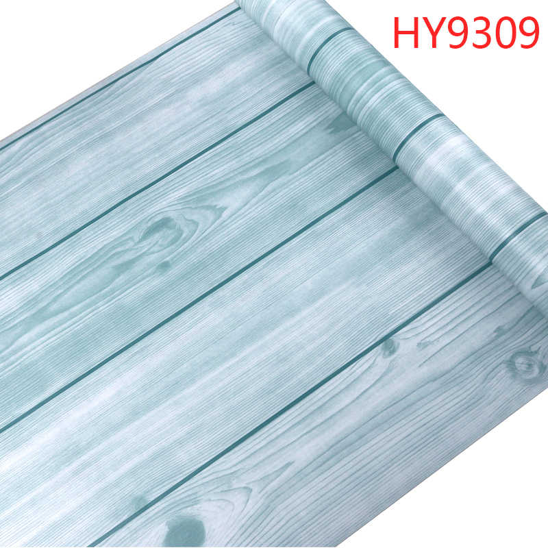 Thick Floor Wood Grain Stickers PVC Self adhesive Wallpaper Old Furniture Wardrobe Door Renovation Vinyl Decorative Film