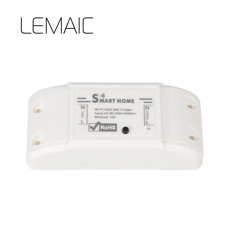 LEMAIC Brand New Smart Home Wireless Intelligent Remote Control Products Itead Share Timer Diy 220V Via Android IOS Wifi Switch itead sonoff 4ch channel remote control wifi switch home automation module wireless timer diy switch