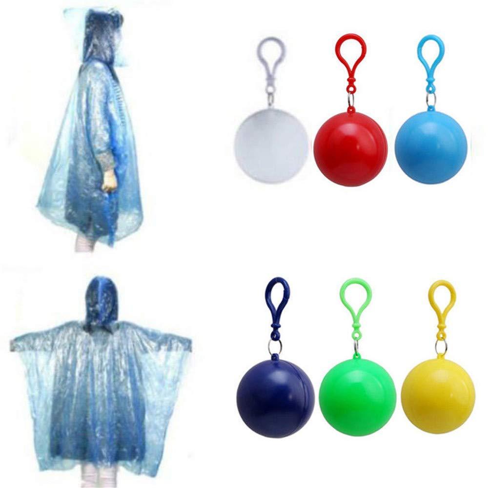 Yooap Plastic ball-button disposable raincoat adult size portable waterproof outdoor activity transparent