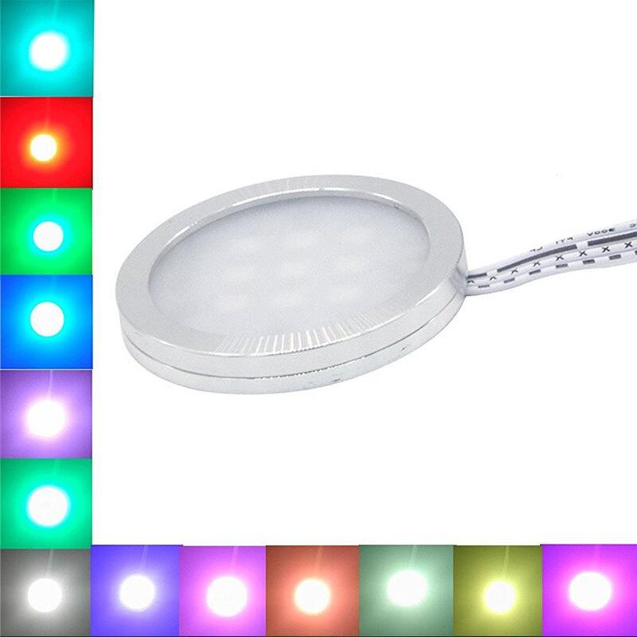 Kitchen Under Cabinet Counter Led Lighting Free Shipping: Free Shipping RGB LED Under Cabinet Lights Downlight 4