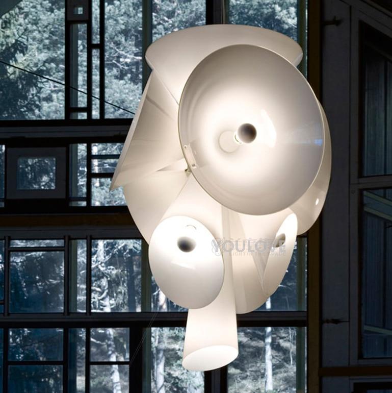 Lámpara colgante nórdica blanca nebulosa moderna, lámpara colgante para el hogar, interior, comedor, restaurante, clubes, cafés, lámpara colgante