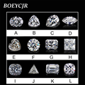BOEYCJR Custom D Color Emerald Marquise Oval Shape Brilliant Cut Moissanite Loose Stone Excellent Cut Jewelry Making Engagement