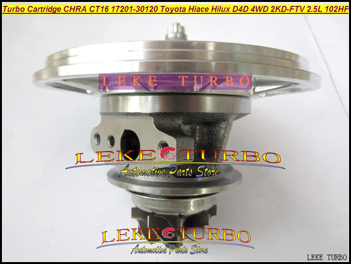 Free Ship Turbo Cartridge CHRA Core CT16 17201-30120 Oil Turbocharger For TOYOTA Hiace Hilux Hi-lux D4D 2KD-FTV 2KD 2KDFTV 2.5L