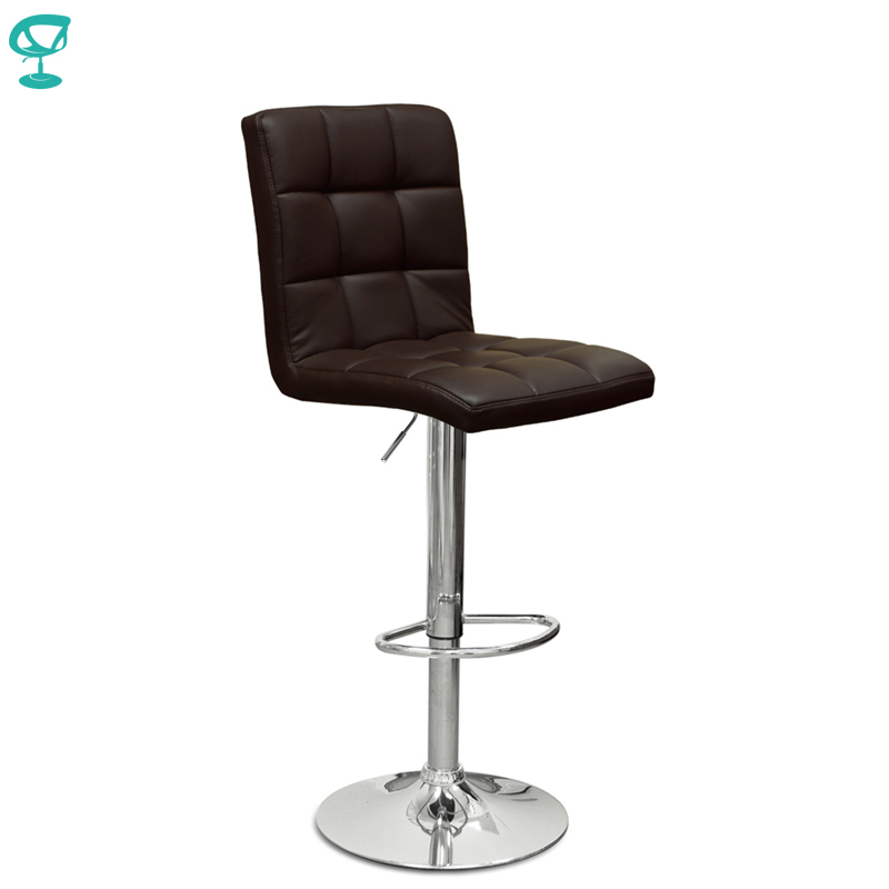 94563 Barneo N-48 Leather Kitchen Breakfast Bar Stool Swivel Bar Chair Dark Brown Color Free Shipping In Russia
