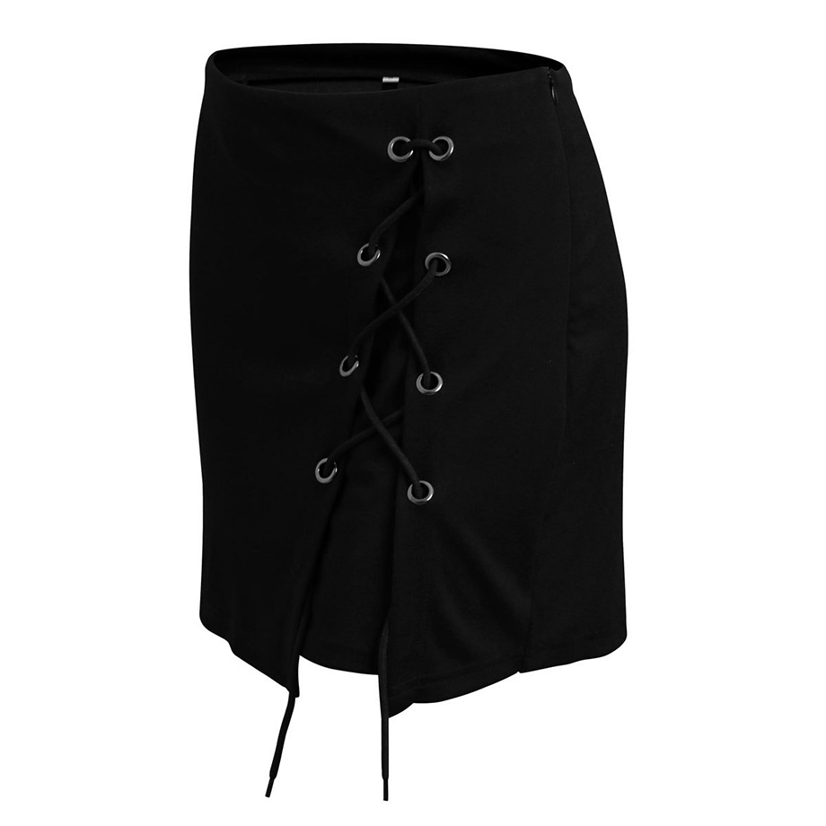 HTB1M38MQpXXXXcbXFXXq6xXFXXXk - FREE SHIPPING Bandage Mini Skirt Black JKP231