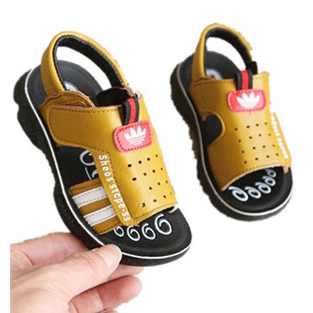 Boys Sandals New 2019 Summer Toddler Kids Shoe Pu Leather Children's Sandals for School Boys Flat Beach Sandals Size 21-31