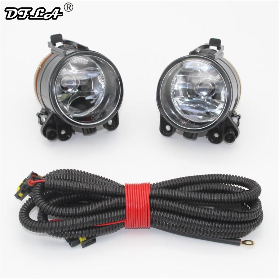 For VW Golf 5 V MK5 R32 2004 2005 2006 2007 2008 2009 Car-styling Front Bumper Halogen Car Fog Light Fog Lamp + Wire for opel astra h gtc 2005 15 h11 wiring harness sockets wire connector switch 2 fog lights drl front bumper 5d lens led lamp