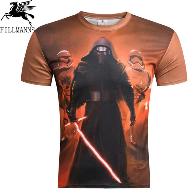 New brand 2018 Summer Men's t shirt Casual Star Wars T-Shirt The Darth Face Print T Shirt Short Sleeve Tees Hip Hop Tops tees