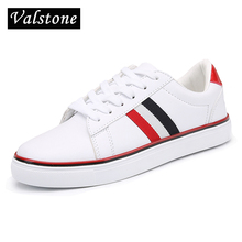 Valstone Men Quality Casual Leather shoes winter autumn flats fashion sneakers PU upper unisex Vulcanized shoes plus sizes 36-46