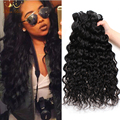5 Bundles Indian Water Wave Virgin Hair 7A Indian Curly Virgin Hair Indian Human Hair Weave Wet and Wavy Hair Bundles