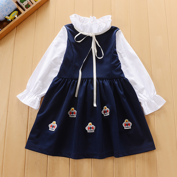 30f0b9cd0dbb 2017 Kids Girl Dress Autumn Winter Fashion Baby Girl England Style Long  Sleeve Dress Children Clothing Casual Girl Clothes-in Dresses from Mother    Kids on ...