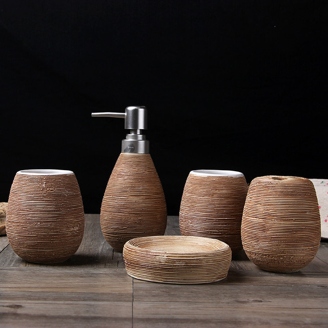 Retro Ceramic Bathroom Accessories Set
