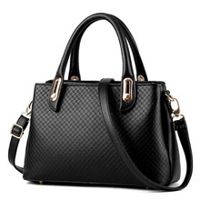 New Women PU Leather Totes Bags Ladies Casual Handbags Simple Handbags & Crossbody Bags Fashion Embossing Solid Color Hand Bag