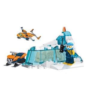 Image 3 - 743 قطعة اللبنات الصغيرة متوافق Lepinging مدينة القطب الشمالي توريد ألعاب الطائرة للأطفال الفتيات الفتيان هدية DIY بها بنفسك