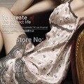 Sexy Brace feminino Imtated Silk Lace pijamas camisola mulheres Nighty vestido Robes