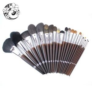 Image 2 - ENERGIE Marke Professionelle 22 stücke Make Up Pinsel Set Make Up Pinsel + Tasche Brochas Maquillaje Pinceaux Maquillage tm1