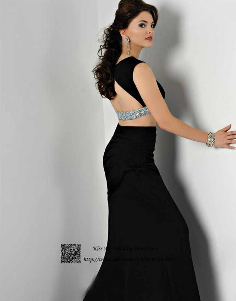 ... Sexy Two Piece Black Mermaid Royal Blue Prom Dress Women Formal Dresses  Evening Gowns 2015 Backless ... fdcac3aeeed8