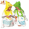 Monkids 2016 Summer Thin Section Baby Towel Children Bathrobes Baby Beach Hooded Bath Towel Cartoon 0-6Y Household Clothing