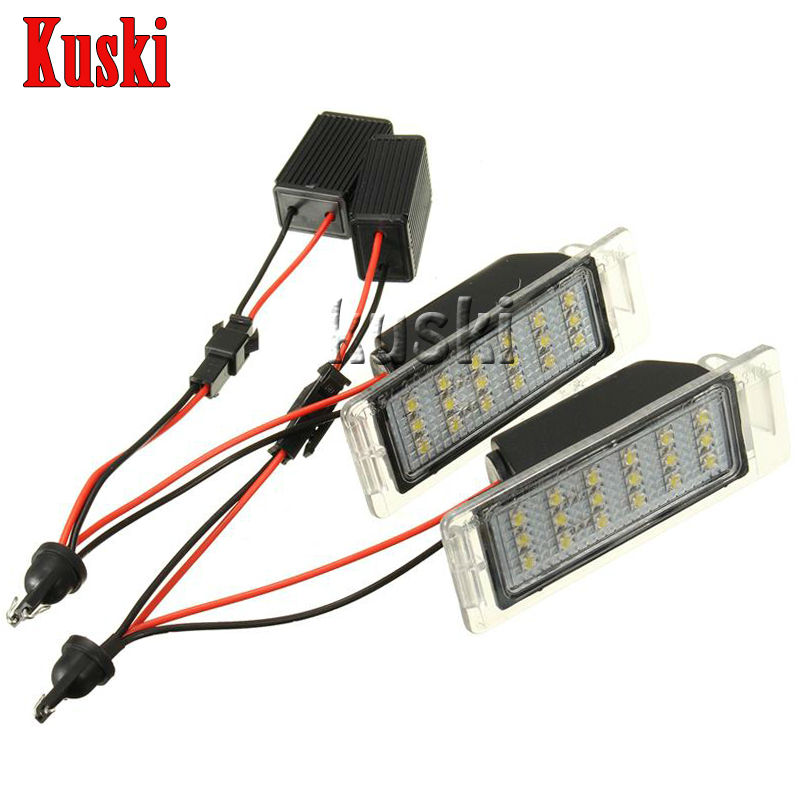 2Pcs LED Number License Plate Light 12V White SMD LED Canbus Lamp Bulb Car Styling For Chevrolet Cruze Camaro Accessories 2pcs led number license plate light 12v white smd led canbus lamp bulb car styling for opel astra g corsa a b vectra b tigra