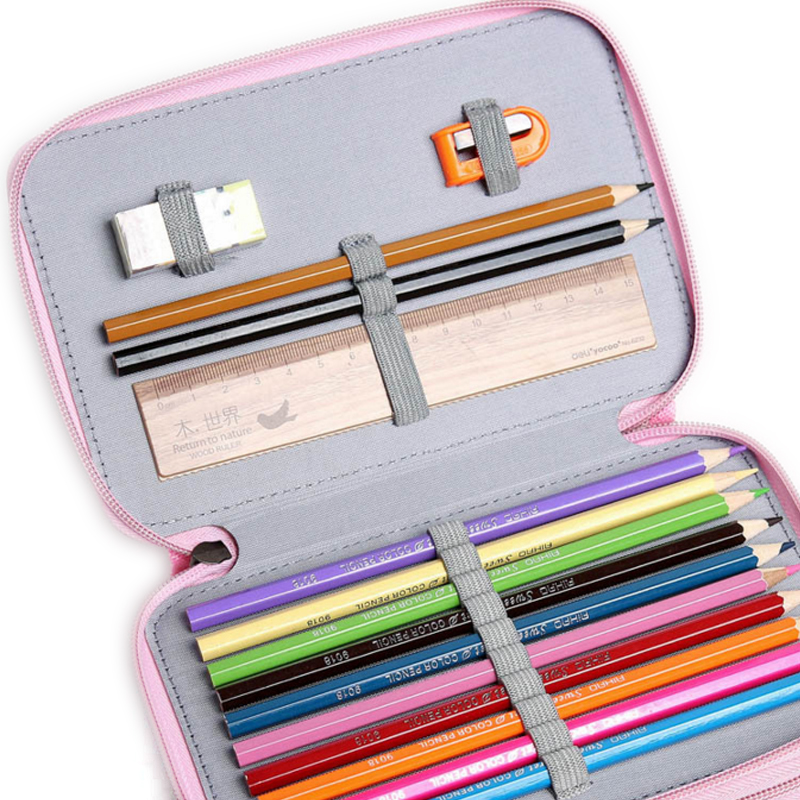 32/52 Holders Handy School Pencils Case Large Capacity Colored Pencil Bag Gel pen case For Student Gift Art Supplies olike 150 slots pencil case canvas pencils case large capacity portable pencil bag for school colored gel pen bag art supplies