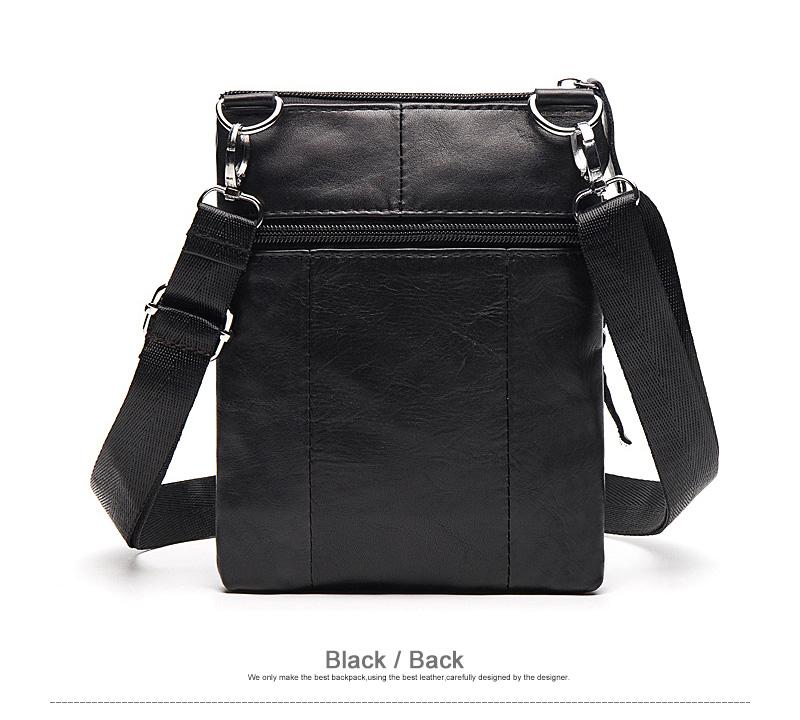 WESTAL Messenger Bag Men's Shoulder Genuine Leather bags Flap Small male man Crossbody bags for men natural Leather bag M701 12