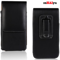 Luxury Vertical Leather Pouch Case Cell Phone Belt Case Holster Cover Pouch Clip Phone Bag