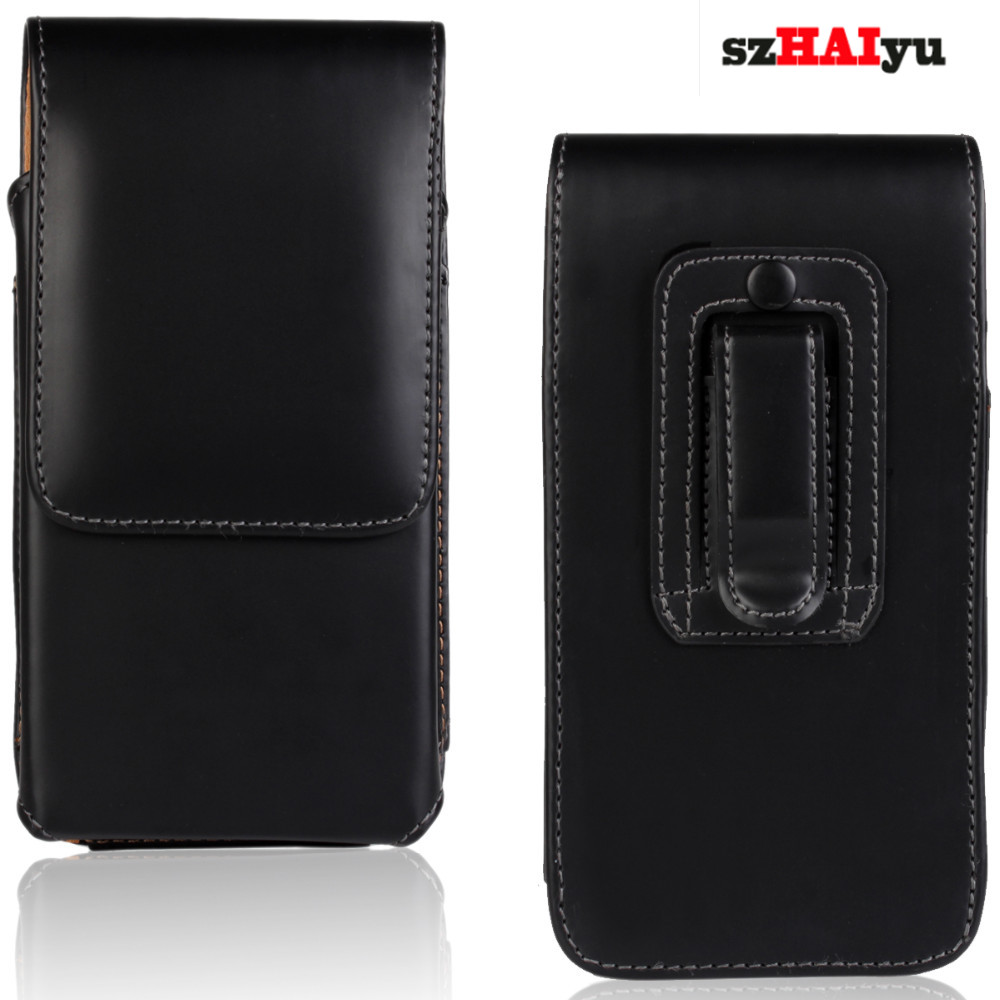 szHAIyu Luxury Vertical Leather Pouch Case Cell Phone Belt Case Holster Cover Pouch Clip Phone Bag