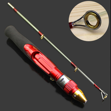 Fashion Portable 50cm Fishing Rod Removable  2 Section Metal Joint Strong Shrimp Prawn Winter Ice Fish Pole MC889