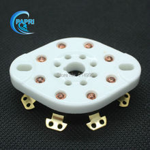 Free Shipping  10PCS Gold Plate 8pin K8A CHASSIS tube socket  MOUNT FOR EL34/KT88/6L6/5U4G/6P3P/5Z3P