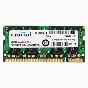 Оперативная память для ноутбука DDR2 667/800 MHZ 1,8 V CL5 200pin DDR2 2GB 4GB RAM для ноутбука 4GB = 2 шт * 2G PC2-5300/6400 S