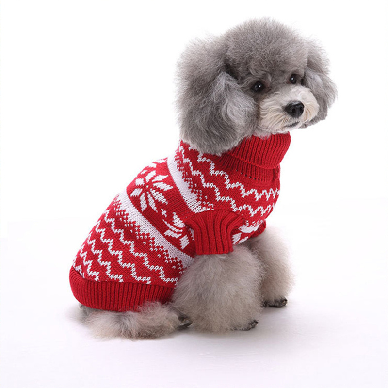 Warm Dog Clothes Winter Christmas For Small Puppy Cat Pet Warm Elk Snowflake Sweater Halloween Dogs Coats Jackets XXL Jumpsuits