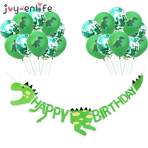Dinosaur Party Supplies Dinosaur Balloons Paper Garland for Kids Boy Birthday Party Decoration Dinosaur World Jungle Party Decor
