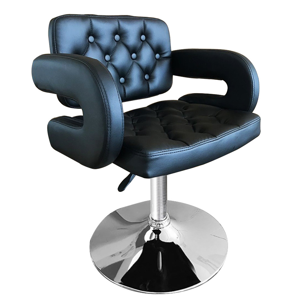 Shellhard Adjustable Barber Chair Leather Styling Salon Barber Chair Beauty Equipment Salon Furniture Black/White the new salon haircut chair chair barber chair children hydraulic lifting chair