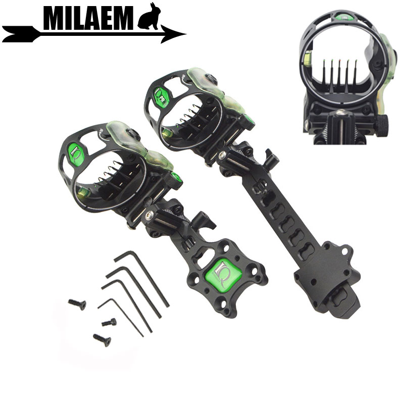 1pc Archery IQ Micro Bow Sight 5 Pin 0.015