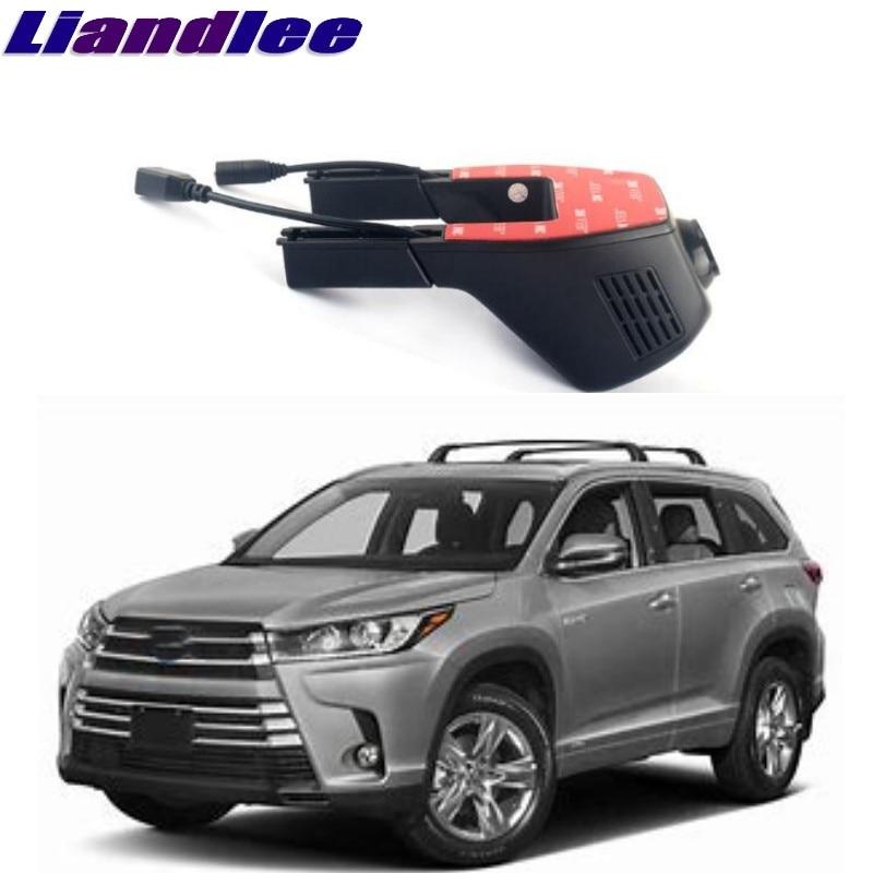 Liandlee pour Toyota Highlander Kluger XU20 XU40 XU50 2000 ~ 2018 enregistrement de route de voiture WiFi DVR tiret caméra enregistreur vidéo de conduite