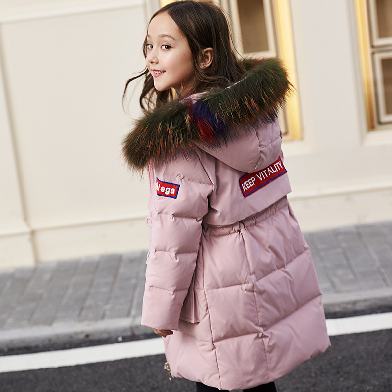 Children Girls duck Down Jacket Coat Korean Long Hooded teens 6-16Y kids boy girl overcoat jacket parkas Russia winter clothing evgeniy gorbachev returning to