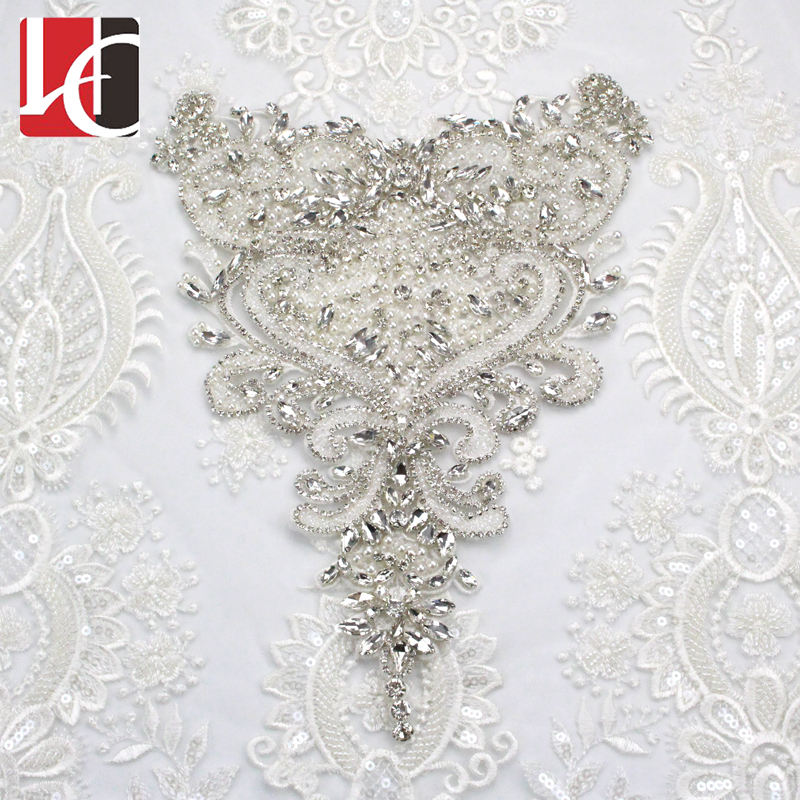 New Fashion Rhinestone Applique For Wedding Dress DIY Accessories