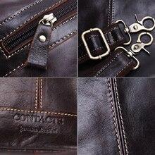 Genuine Leather Travel Dark Brown Bag