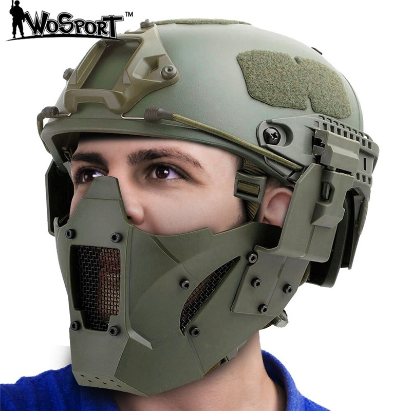 Tactical Face Mask Hunting Helmet Airsoft Military Paintball Game Protective CS Face Mask Outdoor Field Suvive Sports все цены