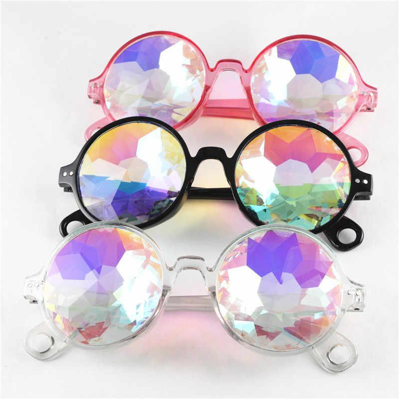 6738196061 ... Round Kaleidoscope Glasses Retro Man Sunglasses Rave Festival Colorful  Celebrity Party Eyewear Cosplay gafas de sol