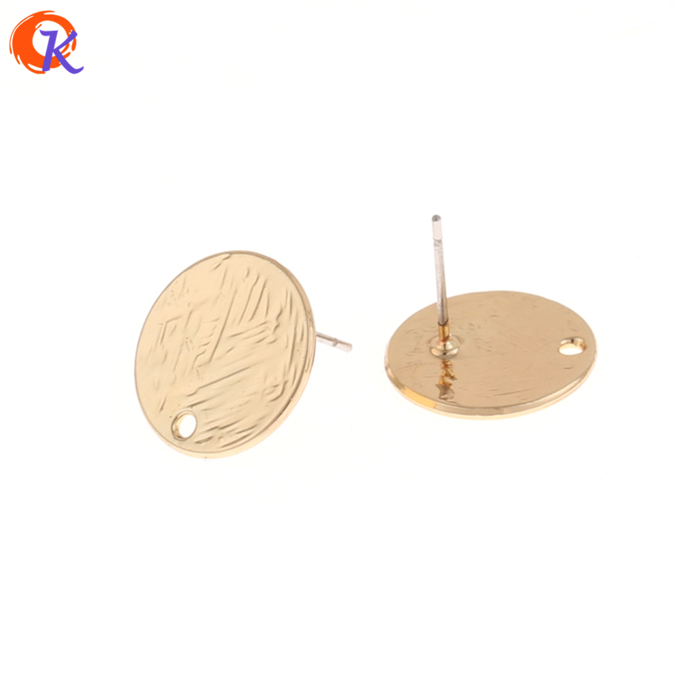 Cordial Design 50Pcs 15*15MM Jewelry Accessories/Earring Stud/Gold Coin Shape/Zinc Alloy/DIY/Hand Made/Earring Findings